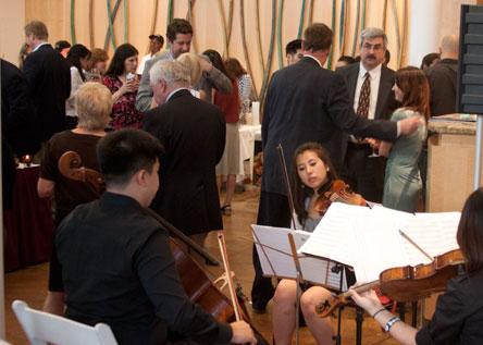 Cadence string quartet playing at Taste of Paramus