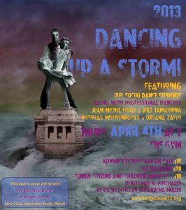 Dancing up a storm poster