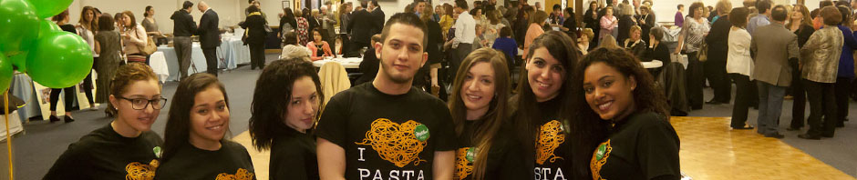 Olive Garden with the festivities behind them at 9th annual taste of paramus